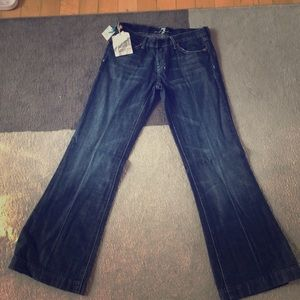 NWT For All Mankind wide leg jeans